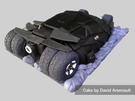 Batman Tumbler Cake Backside by DavidArsenault