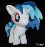 Vinyl Scratch filly plush by PinkuArt