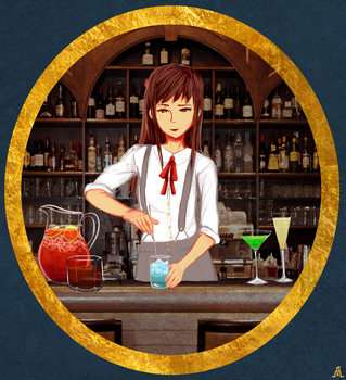 Bartending by aibite