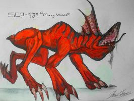 SCP-939 (WITH MANY VOICES) Chauliodus Edtion by HollowX4000