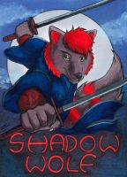 Conbadge Shadow Wolf by AokiBengal