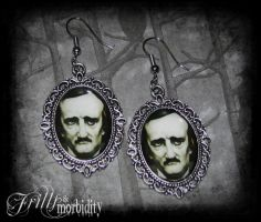 Poe Earrings by FrillsandMorbidity