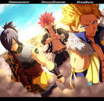 Fairy Tail 405 - Natsu, Rogue and Sting Colab by StingCunha