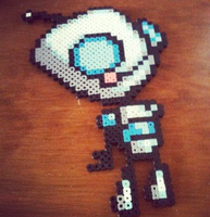 Invader Zim Gir Perler Bead by cowseatrainbows