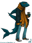 Commission - Hipster Shark by spookydoom