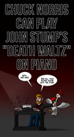 Chuck Norris playing piano. by oldiblogg
