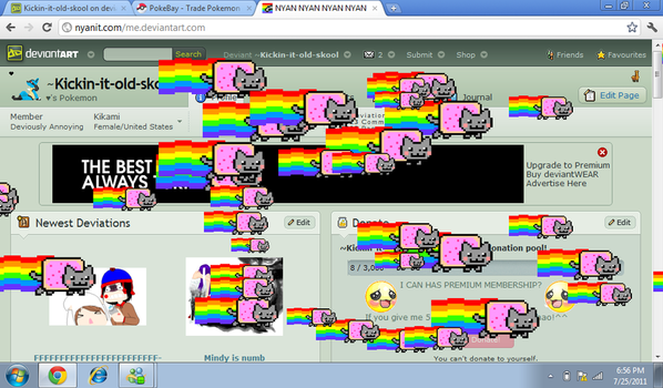 NYAN CAT INVASION by Kickin-it-old-skool