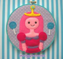 Princess Bubblegum Embroidery by iggystarpup