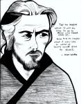 Alan Watts drawing... by emptysometimes