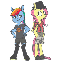 Rainbow Dash always dresses in style by spectralunicorn