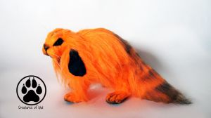 SOLD Weenie the jack-o'-lantern bunny art doll by CreaturesofNat