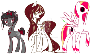 More Pony OCs by Miss-Bow