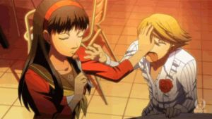 Teddie trying to take Yukikko's Food -GIF- by World-Detective-L