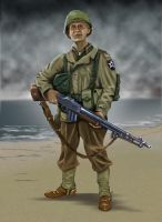 USA infantry man D-Day by timcatherall