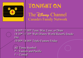 The Disney Channel Canada Primetime Lineup by BuddyBoy600