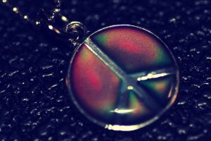 Peace mood necklace by LucyLoveColours