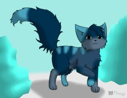 My draw to adopt blue kitty by Mossinescence