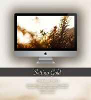 Setting Gold -Wallpaper Pack- by CayaStrife