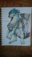 ancient dragon Delila by lunedragonfly