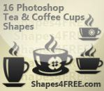 16 Coffee and Tea Cup Shapes by Shapes4FREE