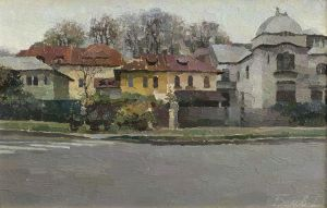 Ady Endre street in Bucharest by Daniil-Belov-artist