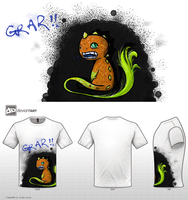 Grar - Cute Monster T-Shirt Design by Mad-Duck-Dandy
