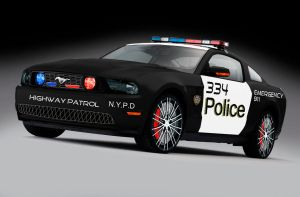 Mustang Police car by JDimensions27