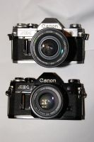 Canon AE-1 and AE-1 Black by rioross