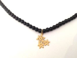 FREE Shipping Idit Stern Midnight Flowers Necklace by iditstern