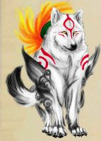 Sunny Amaterasu by silverwerwolf
