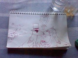 Hand Draw-One happy family...and Downpour by BlackCherry1994
