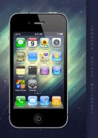 iPhone 4 Galaxy Wallpaper by Martz90