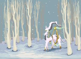 Winter Walk by Pokeaday
