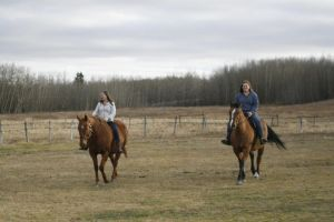 my sister and my step cousin riding by jadynluvscleo