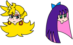 Panty and Stocking Heads by airbornewife71