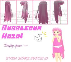 MMD: Bubblegum Hair + DL by MikuMikuLiv