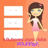 3 Rubores para dolls by PiTuFiNa7