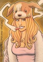 Pinups and Pitbulls Sketch Card 3 by BillMcKay