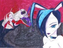 Demon Playboy Bunnies by AngelicsDaughter
