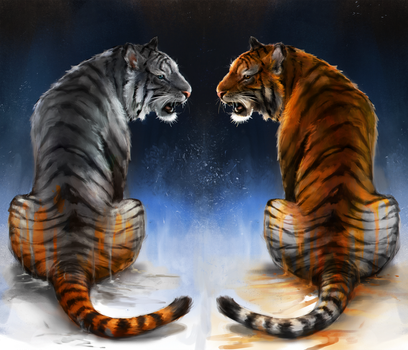 Tiger In The Mirror by Foxeaf
