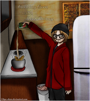 Cooking corn with Mort Rainey by Eilyn-Chan