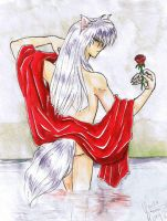 YYH: Youko bathing by youkobutt