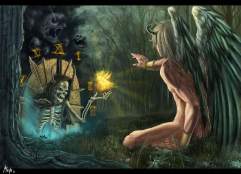 The angel and the agitator by T-razz