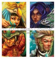 Return of Aetheria - Pole Banner Faces - Closeup by ExiledChaos