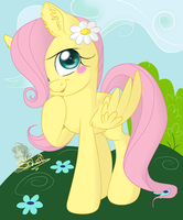 Filly Fluttershy by UniSoLeiL