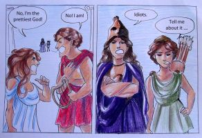 Greek Gods Comic Strip 1 : Apollo and Aphrodite by casandrastellag