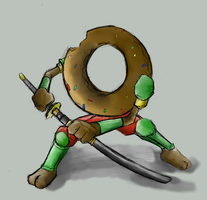 Samurai Donut Colored by Zimed