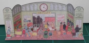 La Gare - Vintage French Papercraft by SarienSpiderDroid