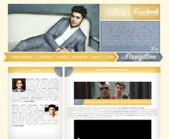 Zac Efron layout by hellomia
