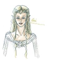 Galadriel- The White Lady sketch by iAmTheForcex3